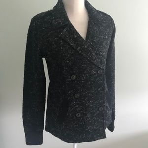 Lucky Brand fleece black jacket